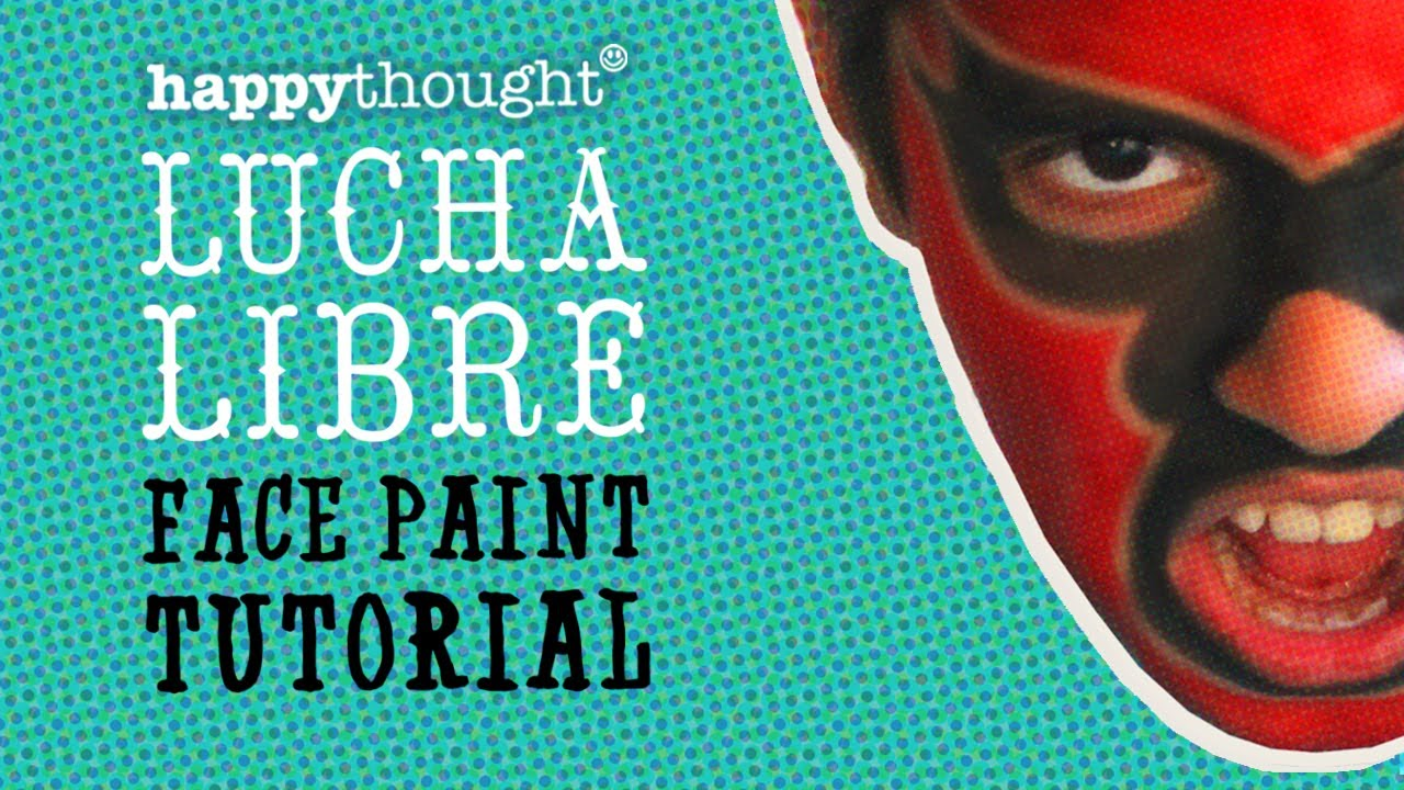 How To Face Paint A Lucha Libre Mask: Easy 5 Step Tutorial Including Free  Pdf Download