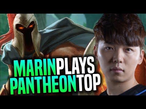 MARIN Brings Back PANTHEON TOP in PRESEASON 8! - AFS Marin Plays PANTHEON TOP with NEW RUNES!