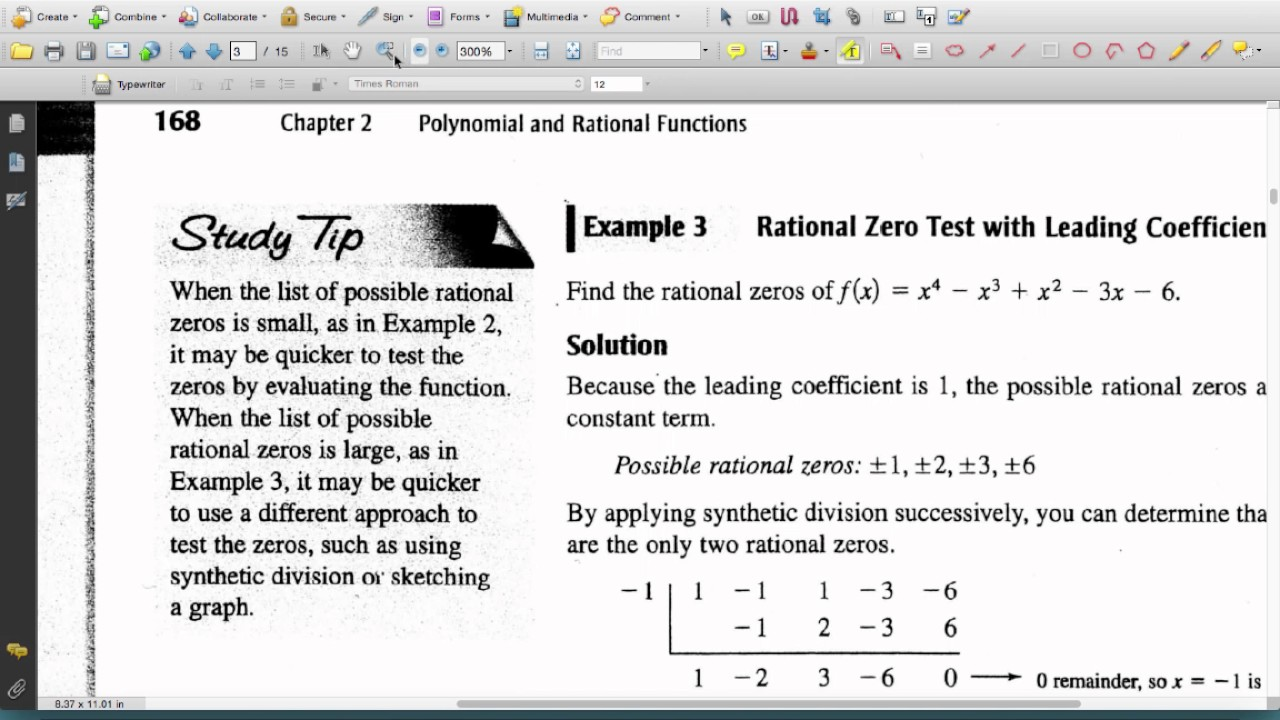 Precalculus 2 5 - Zeros of Polynomial Functions part 1