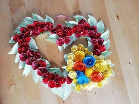 Мастер-класс: Сердце из бумажных роз своими руками. Подарки и поделки к празднику