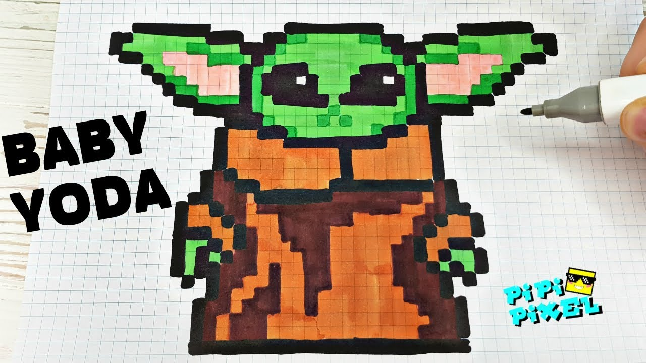 baby yoda pixel art