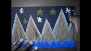 Mountain Design with ZigZag and Diagonal Lines - (clubanimeartist.blogspot.com)