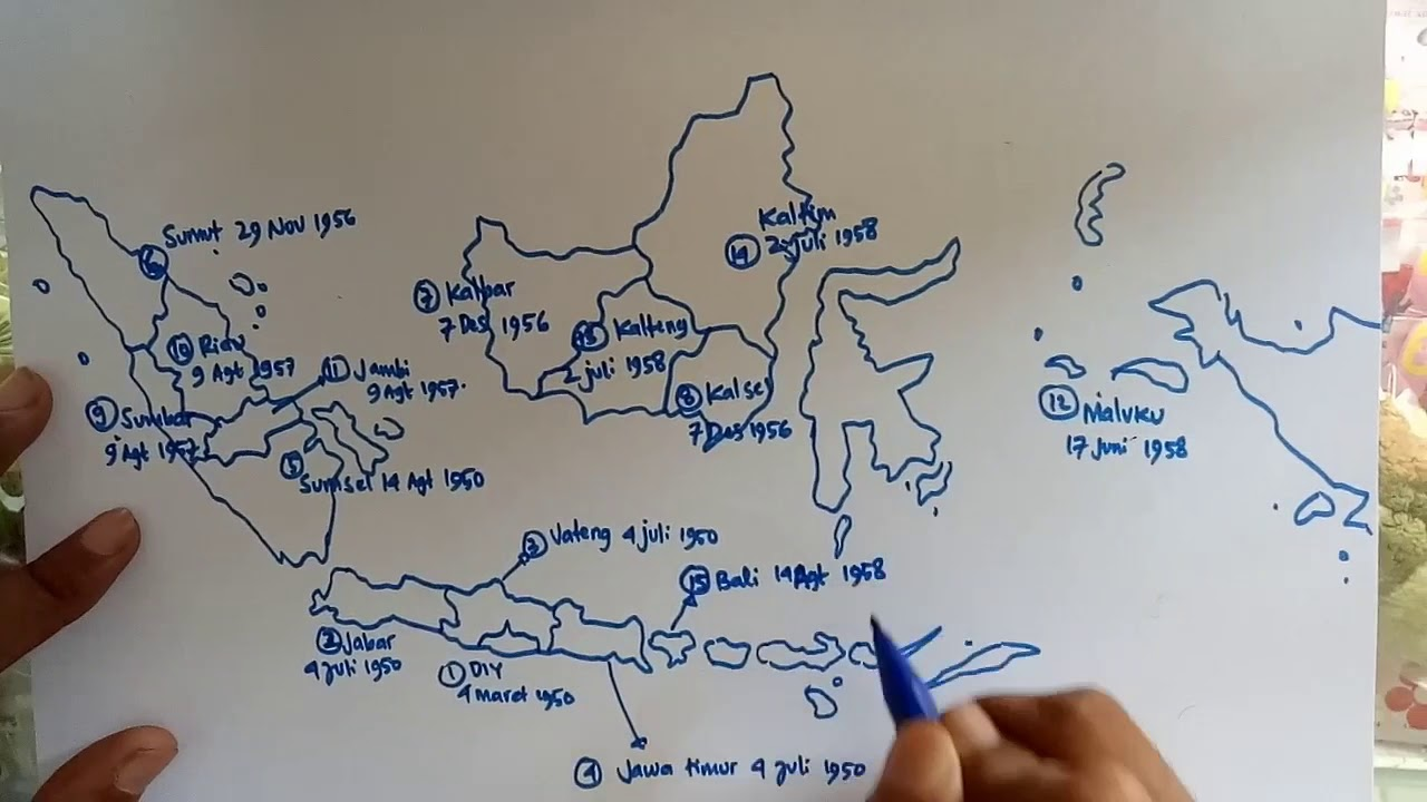 Peta 34 Prov Di Indonesia Berserta Th Berdirinya Youtube