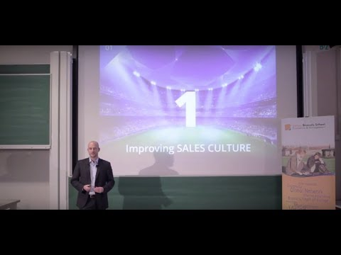 """Sales: culture, drive and empowerment"" at Solvay Business School (ENG) (complete)"