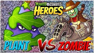 Transfiguration vs Space Cowboy - Plants vs Zombies Heroes Gameplay