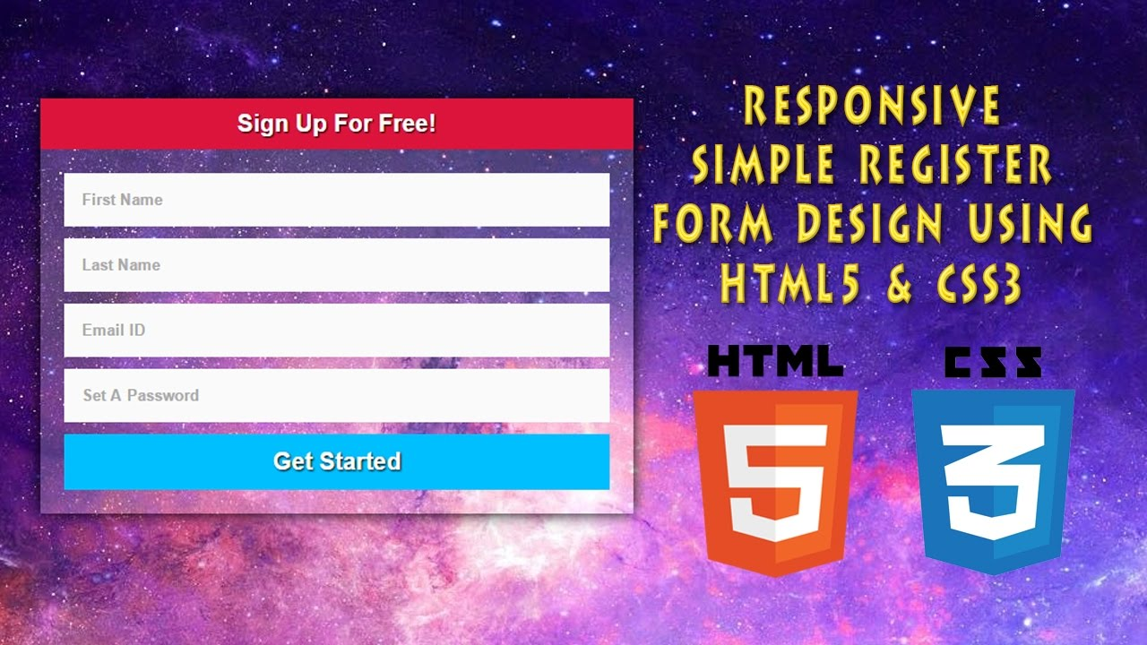 Register form design using html5 css3 responsive web design register form design using html5 css3 responsive web design part 1 falaconquin