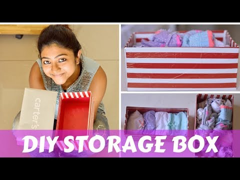 How to recycle a Shoe box?| DIY Storage |Wrapping paper |Room Organization ideas |Cheap storage tips