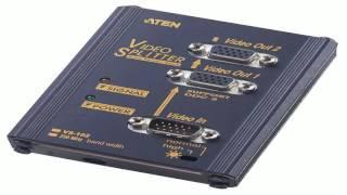 ATEN 2 Port 250 MHz VGA Video Splitter VS82 Black