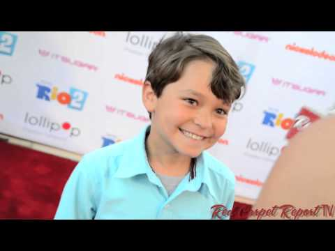 Pierce Gagnon at the Lollipop Theater NightUnderTheStars RIO2 at @NickelodeonTV @PierceGagnon