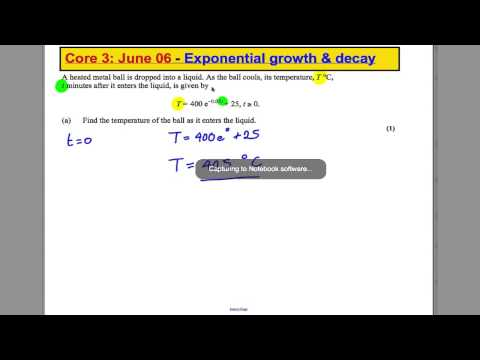 Core 3 Past Paper Questions - Exponential growth + decay