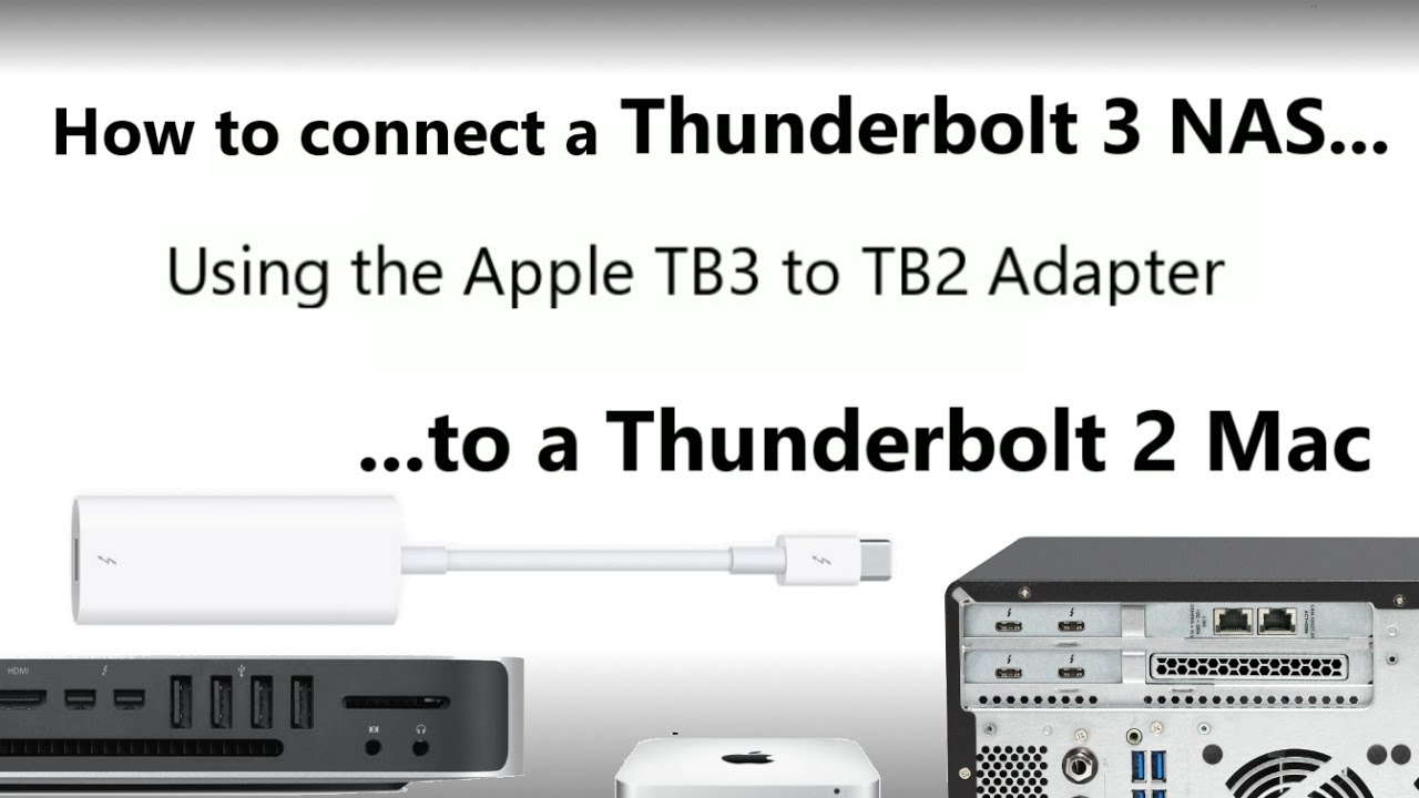 The Apple Thunderbolt 3 to Thunderbolt 2 Adapter- Connect your TB3 ...