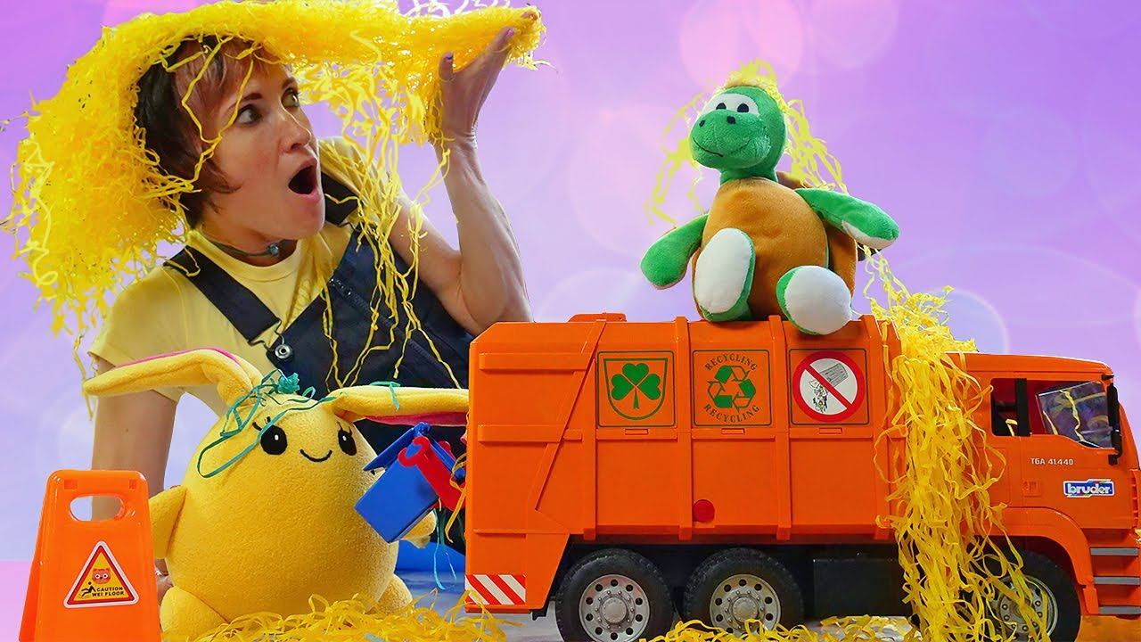 Мультик про Мусоровоз и игрушки - Давай почитаем и Маша Капуки Кануки. Видео для детей