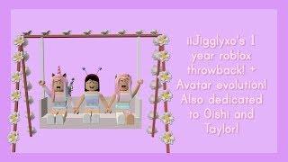 Roblox 1 Anno di iiJigglyxo! - Evoluzione Avatar! (Dedicato a Taylor e Oishi)