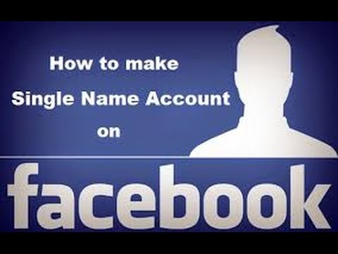 Facebook Single Name Only First Name from YouTube · Duration:  3 minutes 21 seconds