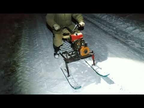 Снегоход из бензопилы дружба своими руками видео схема изготовления
