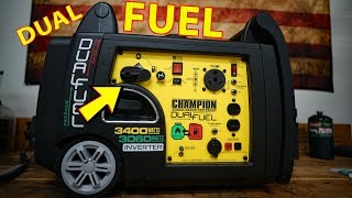 REVIEW: Champion DUAL FUEL Propane / Gasoline Generator