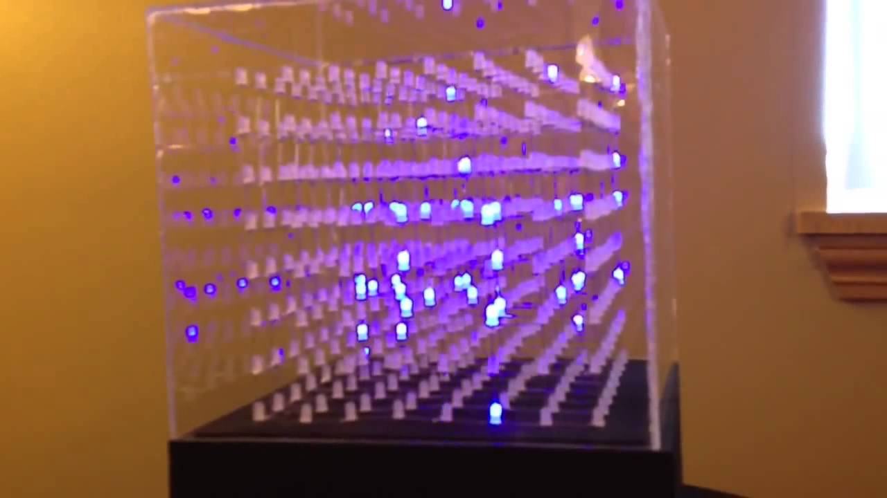 8x8x8 Led Cube With Arduino Code Youtube Rgb Controller Schematic Pyroelectro News Projects