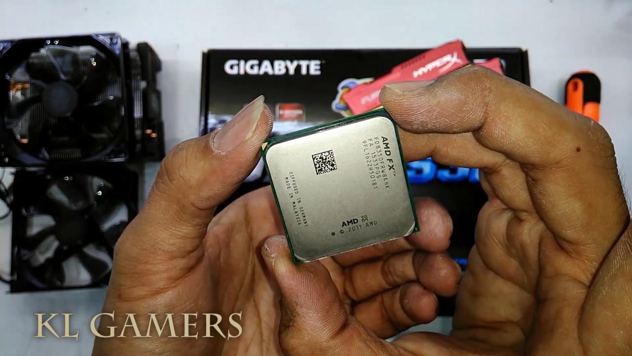 AMD FX8350 GIGABYTE  970A-DS3P Cooler Master Hyper 212 CPU cooler Assemble