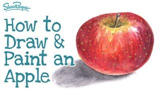 How to draw and paint an apple - complete tutorial
