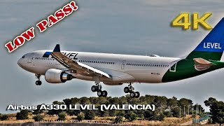 Level Airbus A330 Low Pass at Valencia ! [4K]