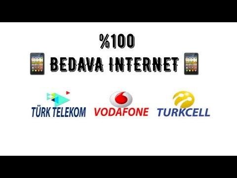 Tüm hatlar için sınırsız bedava internet (%100)