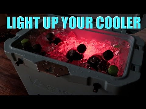 😍😍😍 EASIEST LED COOLER MOD 😍😍😍 YETI RTIC OZARK TRAIL