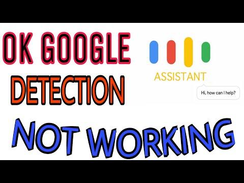 "Google assistant ""ok Google""  detection not working solved"