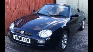 2001 MGF 1.8 Virtual Tour and Startup