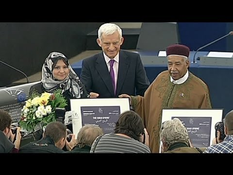 Arab Spring honoured with EP Sakharov Prize