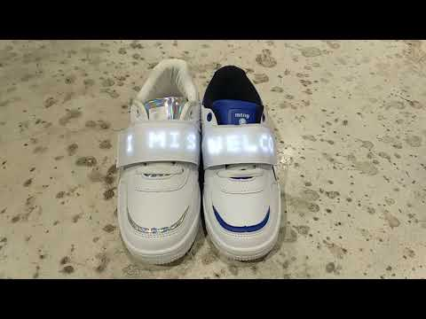 Mustang Trix Zapatillas leds Blanco Azul