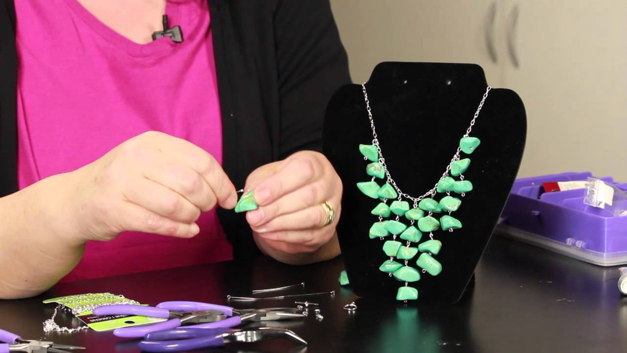 Step by step directions for making stone necklaces diy for How to make rock jewelry