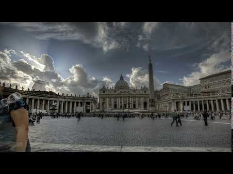 Timelapse of St. Peter's Square at the Vatican City in Rome, Italy
