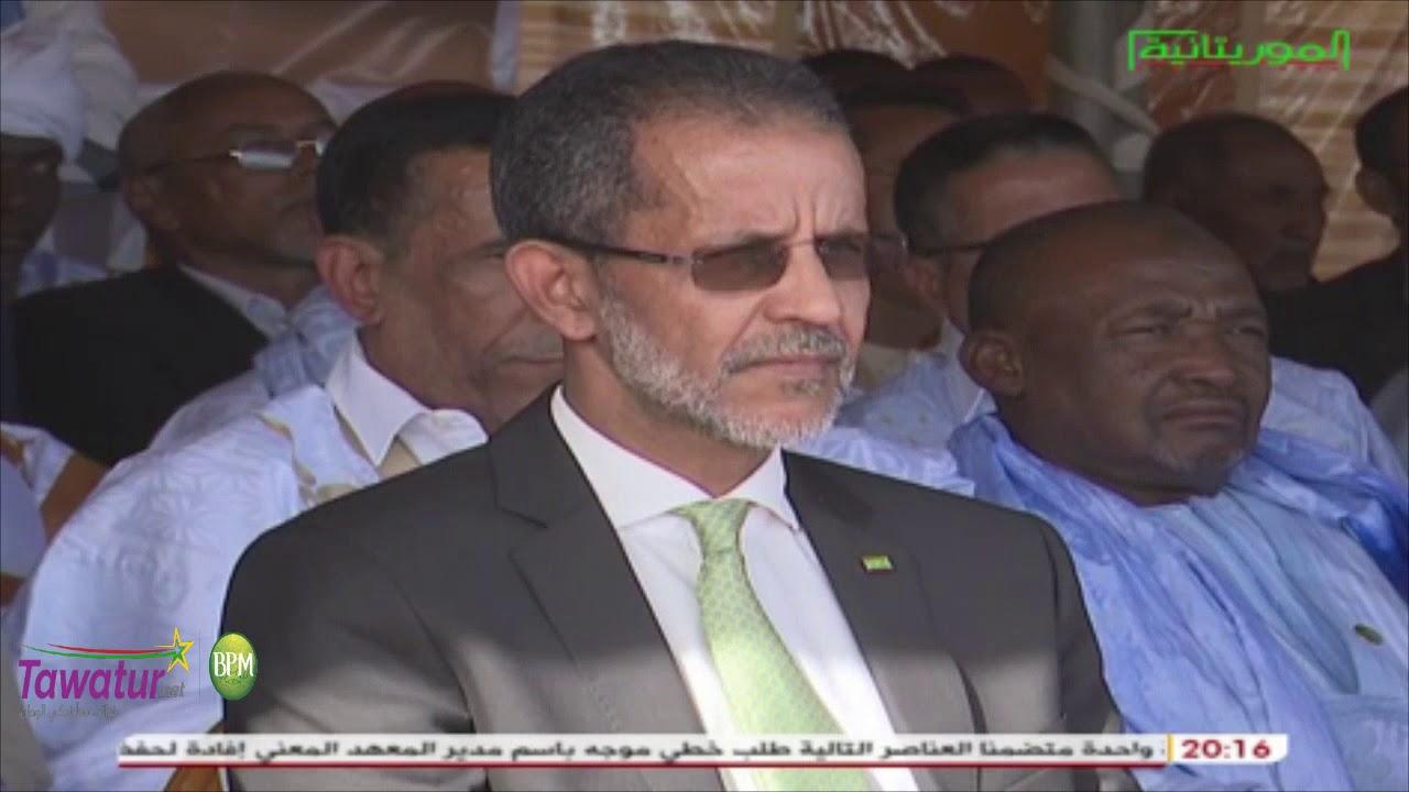 حفل تدشين الخط الجوي الذي يربط مدينة النعمة بنواكشوط | قناة الموريتانية