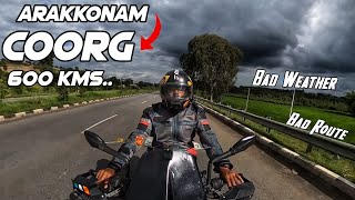Karnataka Ride Day 1 - Arakkonam To Coorg In Duke 250 | Took A Bad Route | Collab Ride | Drone Shots