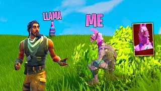 PRETENDING TO BE A LLAMA in Fortnite Battle Royale (LLAMA SKIN TROLLING)