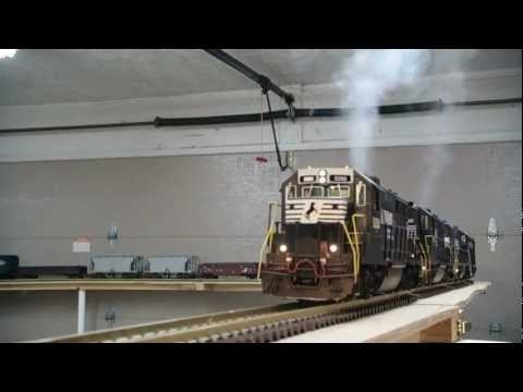 G Scale NS GP 38-2 Freight Train Start Up DCS Controlled
