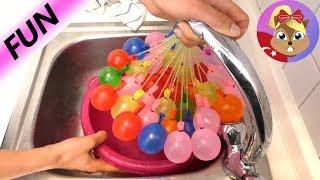 Acayip Ürün: 60 Saniye 100 Su Bomba Balonları! Su balonu savaşı için