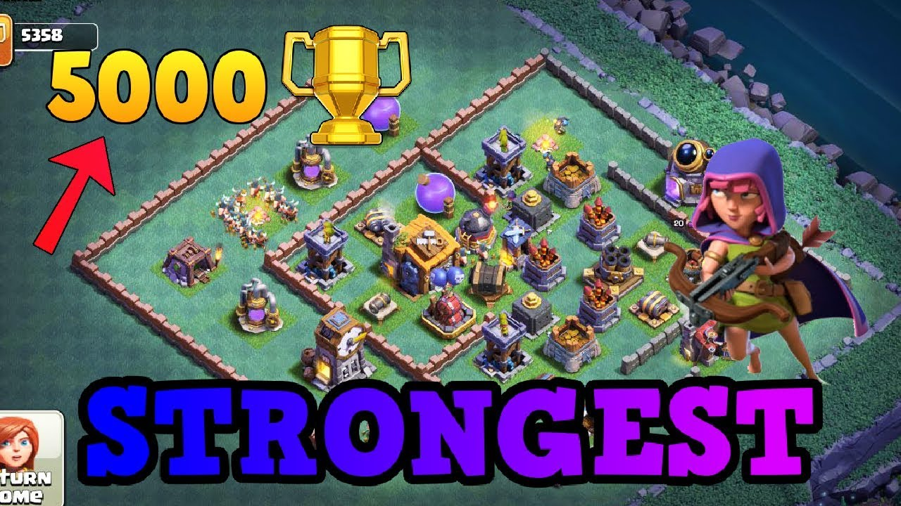 Strongest Coc Builder Hall 7 Bh7 Base Anti 2 Star W Replay Anti All Max Troops Clash Of Clans Youtube