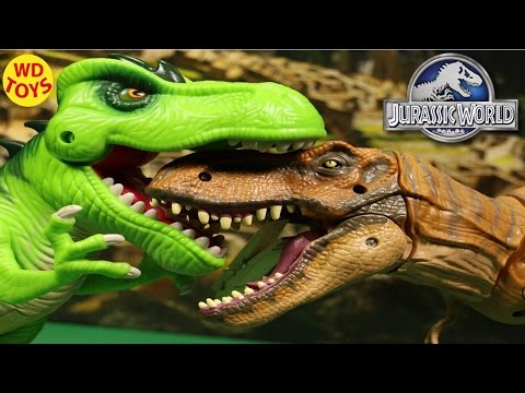 New JURASSIC WORLD TYRANNOSAURUS REX 2015 Playskool By Hasbro Unbox Review By WD Toys