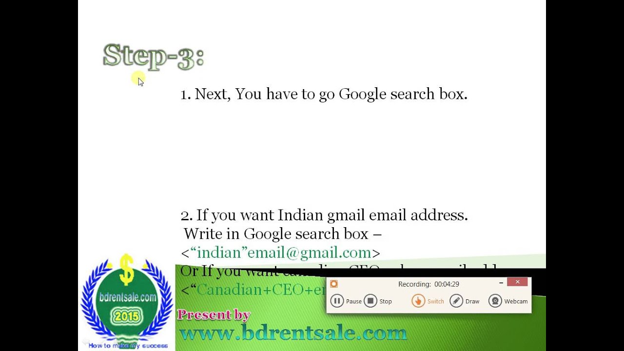 How to collect million-billion email address from Google search in few  times