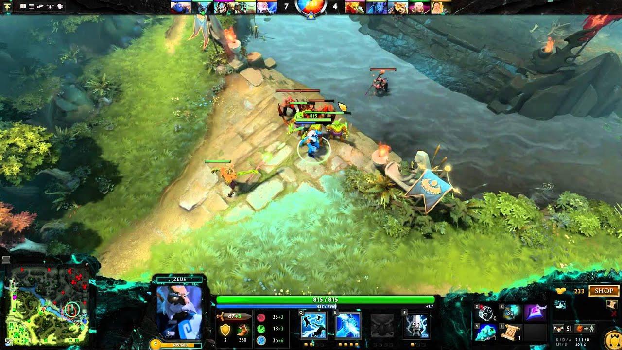 steam game dota 2 zeus 11 kills standard build basic guide