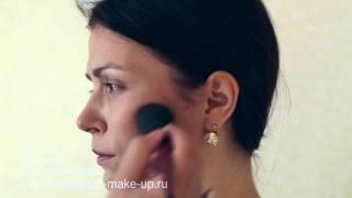макияж. Как изменить форму лица за 3 минуты!