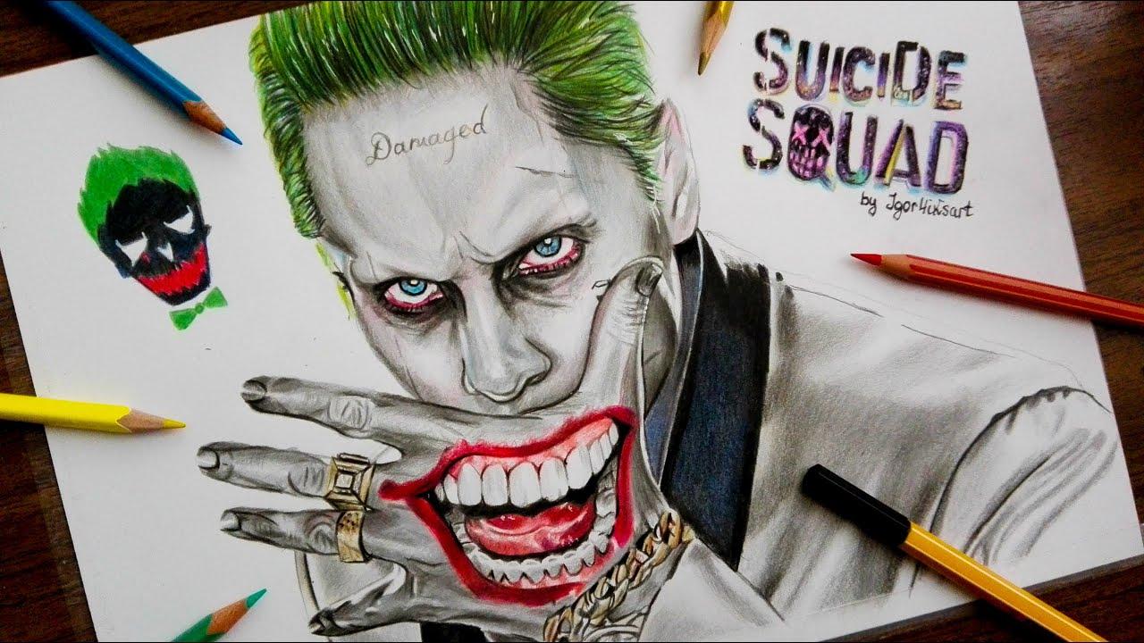 Uncategorized Drawing Joker drawing joker suicide squad jared leto suicide