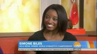 SIMONE BILES 17 - IN DEPTH INTERVIEW OF THE AFFIRMATIVE 10-16-14 - 2 TIME GYMNASTICS WORLD CHAMPION