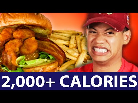 Thumbnail: We Ate The Highest Calorie Meals From Chain Restaurants (2000+ Calories)