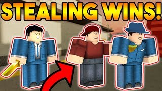 STEALING PEOPLE'S WINS IN ARSENAL! (ROBLOX)