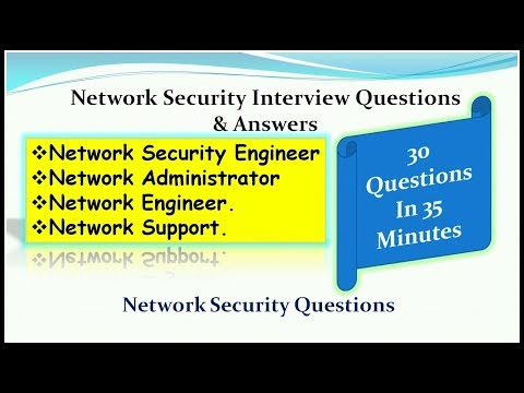 Network Security Interview Questions  & Answers For Network Security Engineer