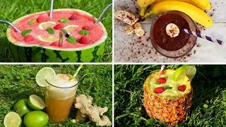 How to Make Easy Healthy Drinks - Full of Fruit and Flavour Served Chilled