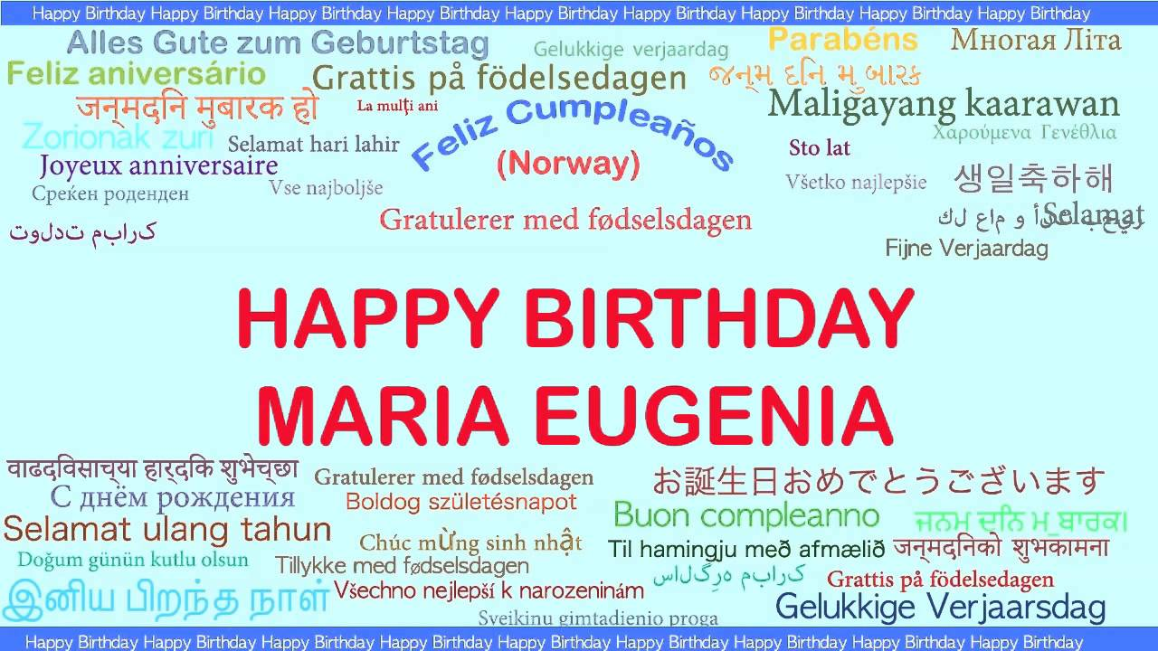 Favoloso MariaEugenia Languages Idiomas - Happy Birthday - YouTube AA43