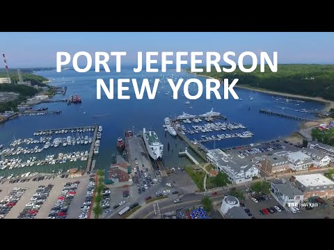 Port Jefferson from the Air - Aerial Drone Film Reel #3